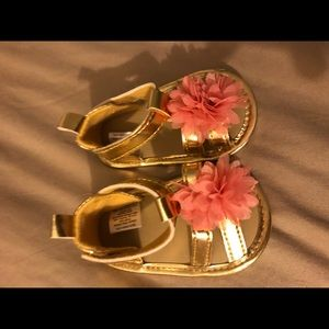 Good and pink baby sandals. Never worn